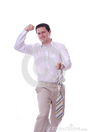 Excited Businessman Stock Photo - Image: 15302750