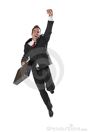 Free Excited Businessman Stock Photography - 3251492
