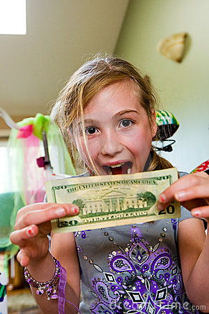 Excited Child with money