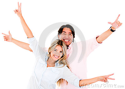 Excited Couple Royalty Free Stock Image - Image: 25593196