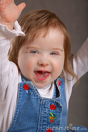 Free Excited Handicapped Toddler Stock Photo - 2117540