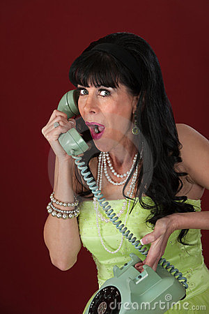 Excited Lady On Phone