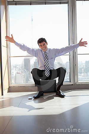 Excited Male Entrepreneur