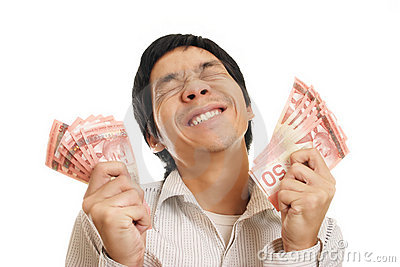 Excited Man With Money