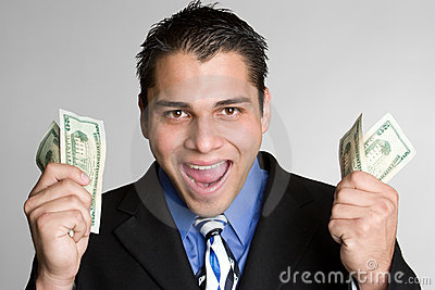 Excited Money Man
