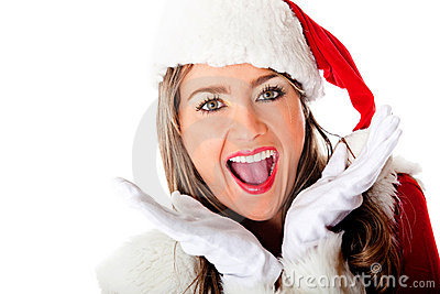 Excited Mrs Claus