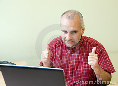 Excited Office Worker Stock Photography - Image: 6714732