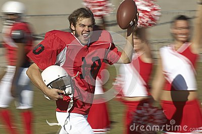 Excited Player Running With Ball