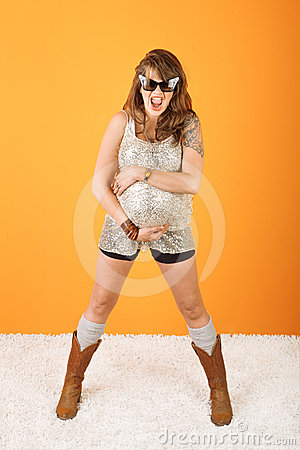 Excited Pregnant Woman