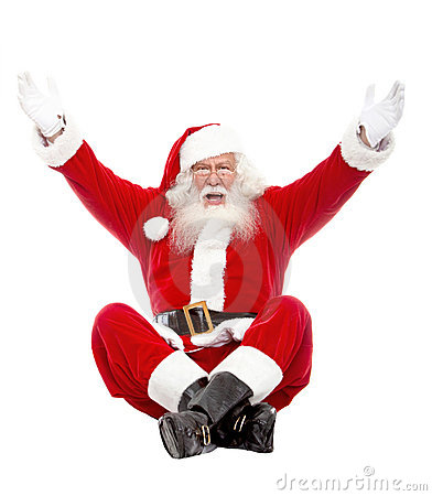Excited Santa Claus