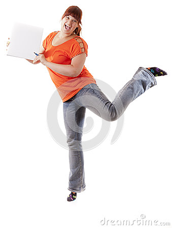 Excited student