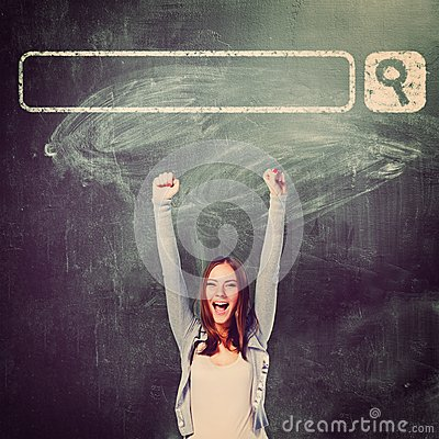 Free Excited Student Stock Image - 44814571