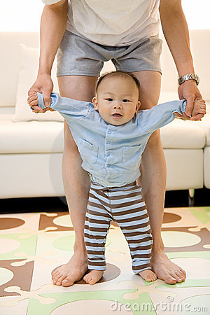 Excitement of Baby s First Steps