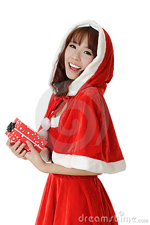 Exciting Christmas girl