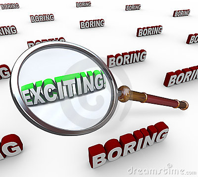 Exciting Word Magnifying Glass Boring Comparison