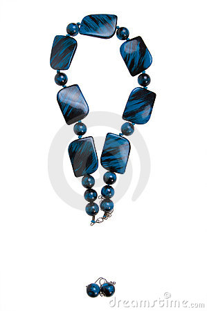 Exclamation mark - blue necklace