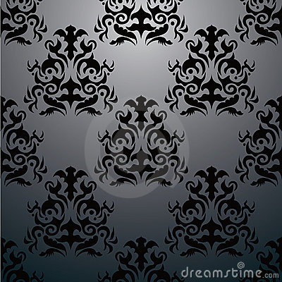 Exclusive black baroque pattern