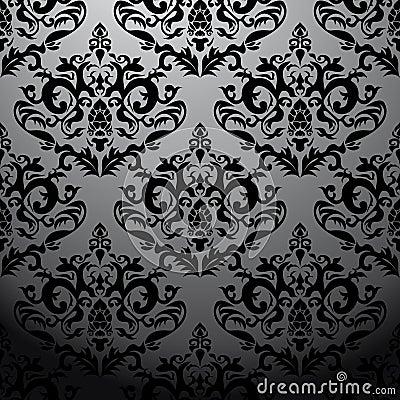 Exclusive black baroque pattern