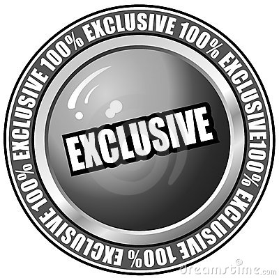 Exclusive Button Vector, Easily Editable