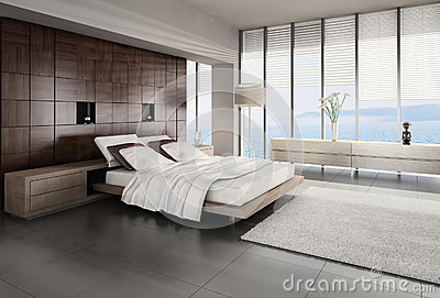 Exclusive Design Bedroom with seascape view