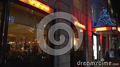 Exclusive Langans restaurant in London Mayfair - LONDON, ENGLAND - DECEMBER 11, 2019. Exclusive Langans restaurant in London Mayfair - LONDON, UNITED KINGDOM stock video footage
