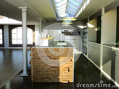 Exclusive loft kitchen