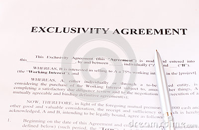 Exclusivity Contract Template