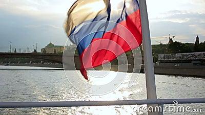 Excursão do barco no Kremlin, Moscou vídeos de arquivo