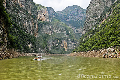 Excursion boat in Central China