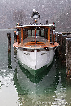 Free Excursion Boat On Koenigssee, Germany Royalty Free Stock Image - 88982736