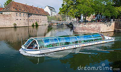 Excursion river bus in Strasbourg