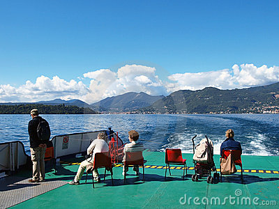 Excursion on the ship along Garda lake Editorial Photo