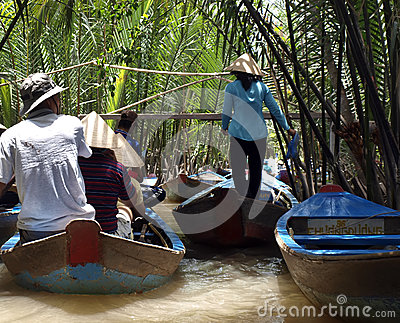 Excursion to the Mekong river Editorial Photography