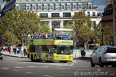 Excursion tourist bus in Paris, France Editorial Image