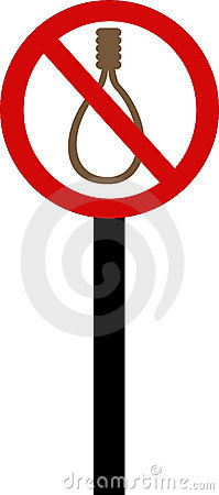 Executions forbidden sign