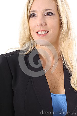 Executive blonde in business suit