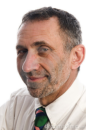 Executive corporate middle age senior man