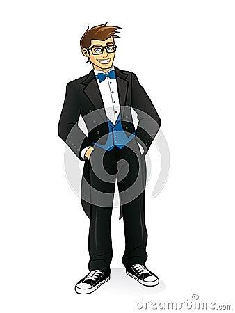 Executive Geek Standing
