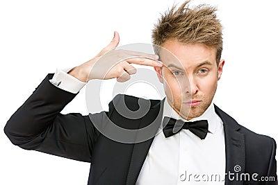 Executive hand gun gesturing