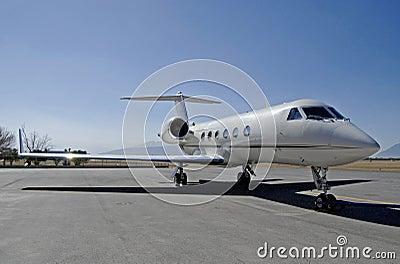 Executive jet front