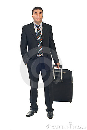 Executive man go to business travel