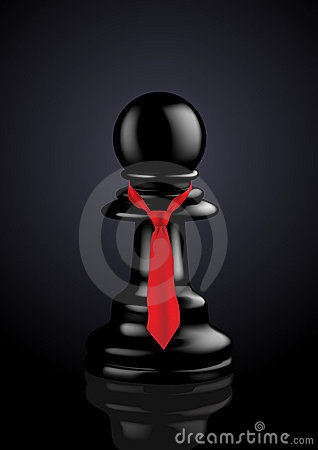 Executive Pawn with Red Tie - Vector