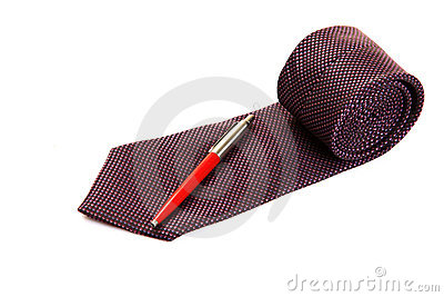 Executive tie and pen