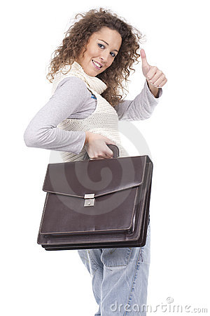 Executive woman holding a briefcase