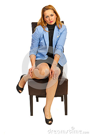 Free Executive Woman Hurting Legs Royalty Free Stock Images - 28184289