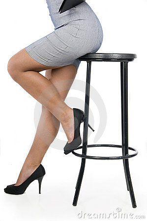 Free Executive Woman Legs In A Chair Royalty Free Stock Photos - 10811008