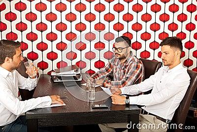 Executives having meeting