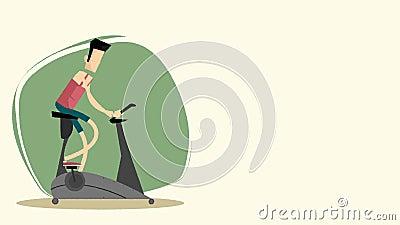 Exercício da bicicleta do ergômetro video estoque