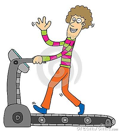 Exercício com escada rolante