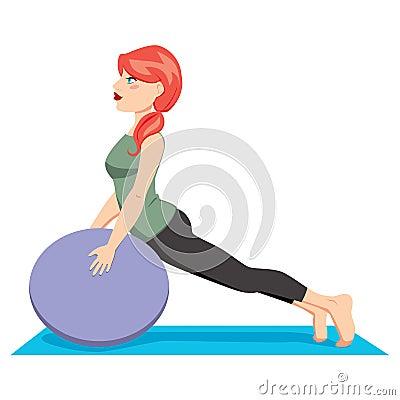 Exercício da esfera de Pilates